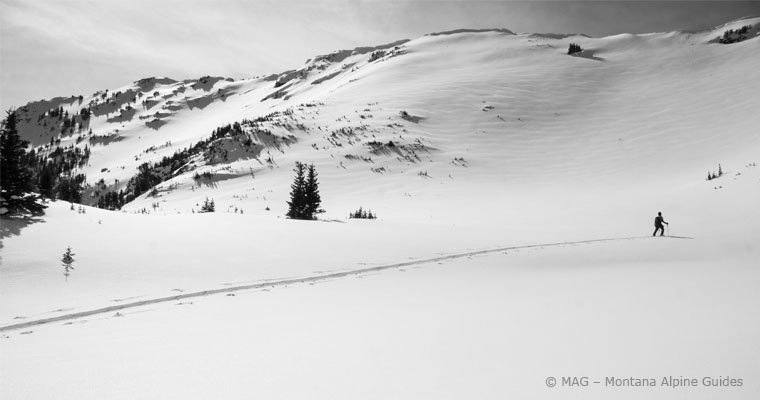 Backcountry Skiing, Bozeman, Big sky, ski guides, backcountry ski guides,Montana Alpine Guides