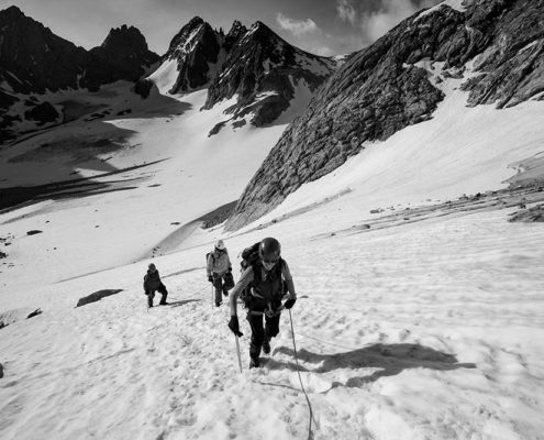 Gannett Peak, Wind River Mountains, Goose Neck Route, East Face Route, Mountaineering, Wyoming, Montana, Montana Alpine Guides