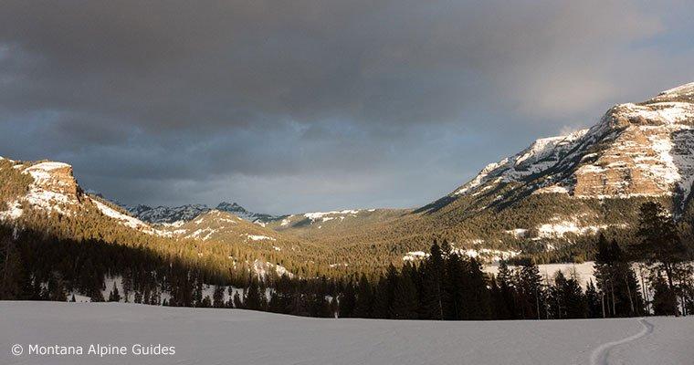Cross country skiing, snowshoeing, yellowstone national park, adventure, big sky, winter, bozeman,