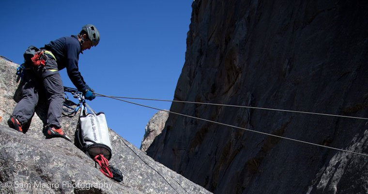 Rope systems, climbers, Tyrollean traverse