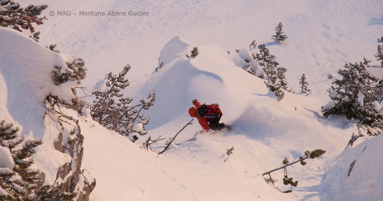 Backcountry Skiing, dawn patrol, sunrise skiing, avalanche education, Bozeman, big sky, Montana, Montana Alpine Guides