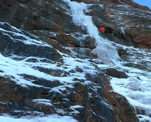 Sphinx, Ice Climbing, MT, Madison Range, Montana Alpine Guides, early season ice