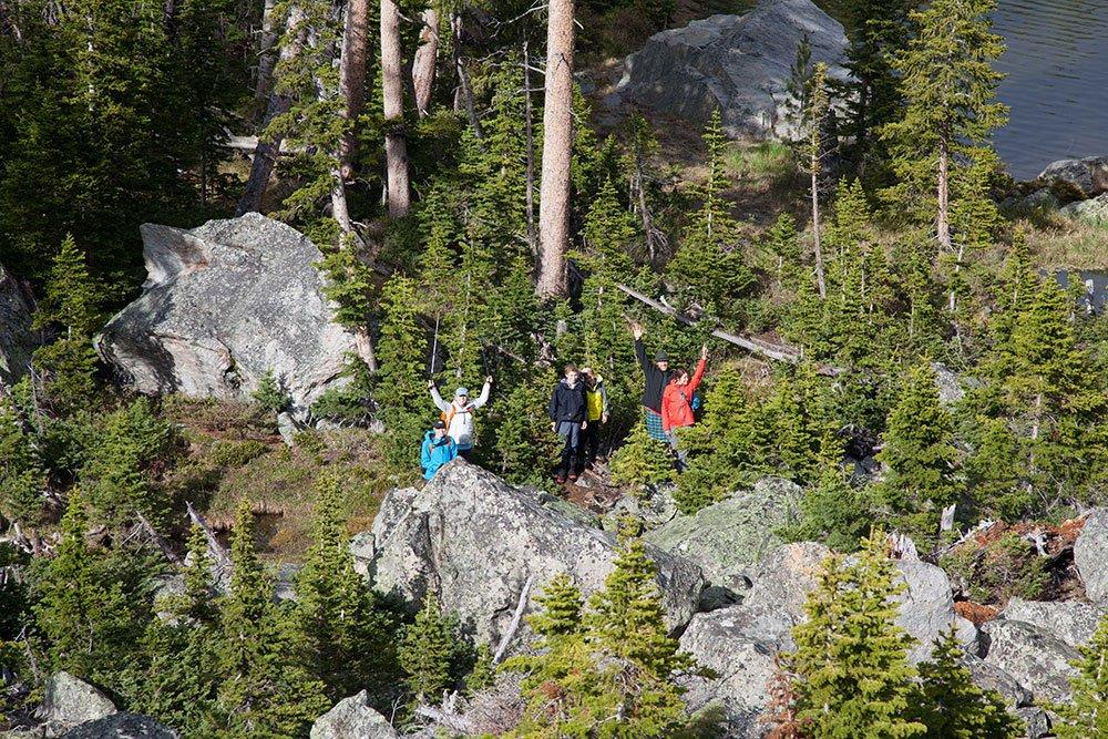 Backpacking in Yellowstone National Park, Wyoming, Montana, Montana Alpine Guides, Bozeman, Big Sky